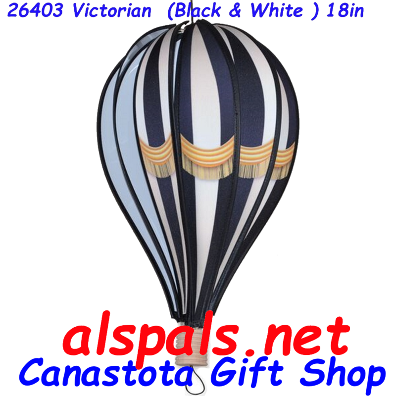 # 26403 : Victorian (Black & White)  Hot Air Balloon upc# 630104264031 18 inch diameter
