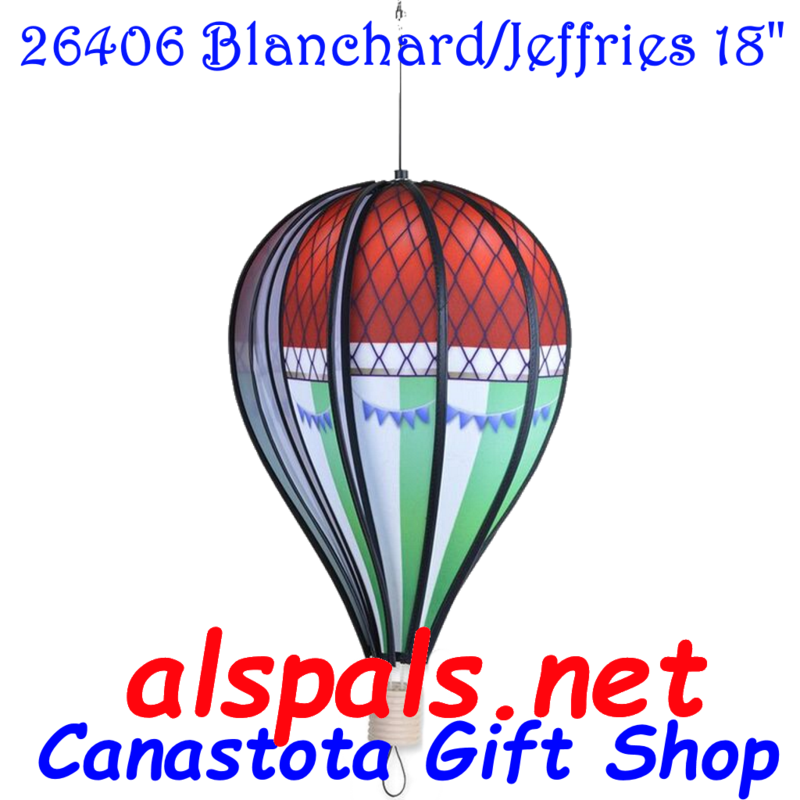 26406  Blanchard/Jefferies  Hot Air Balloon upc# 630104264062 18 inch diameter