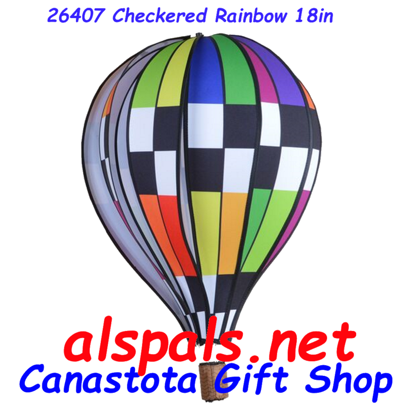 # 24407: Checkered Rainbow  Hot Air Balloon upc# 630104264079 18 inch diameter